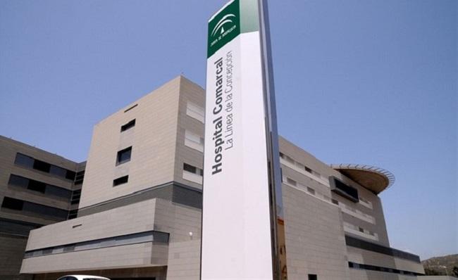 Fachada principal del hospital de La Línea