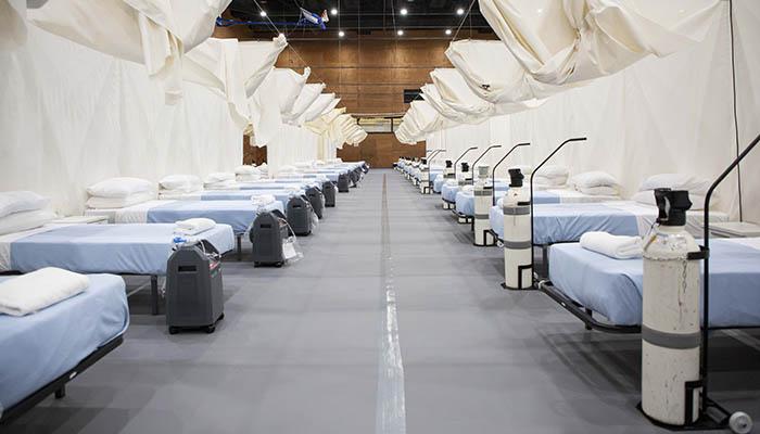 Hospital de campaña en Punta Europa. Foto InfoGibraltar