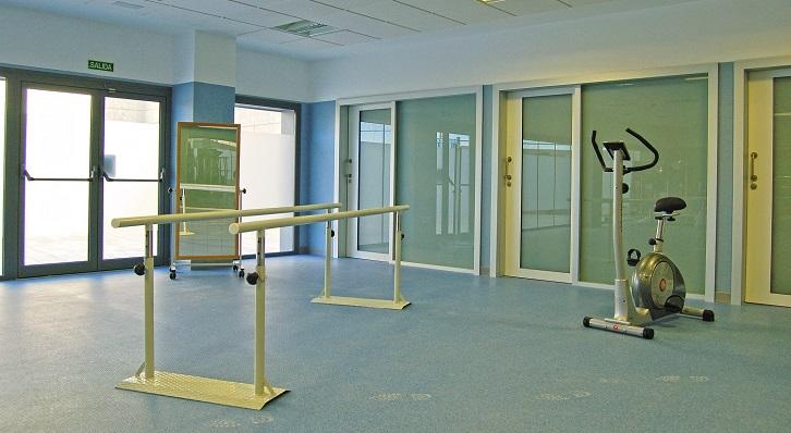 Una imagen del interior de la unidad de la Rehabilitación del hospital