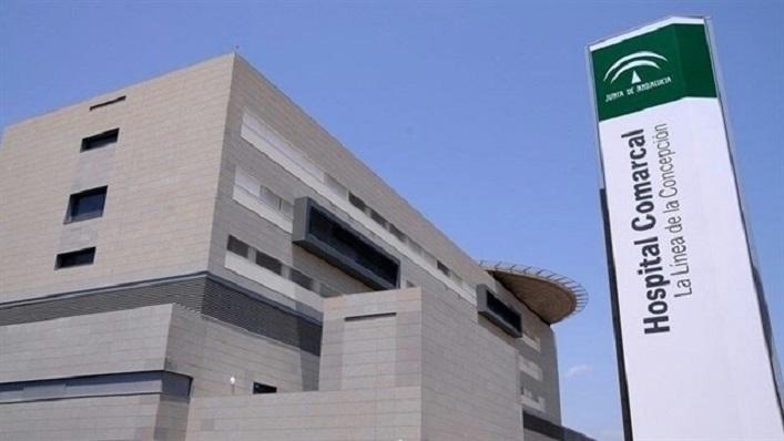 Una imagen del exterior del hospital de La Línea