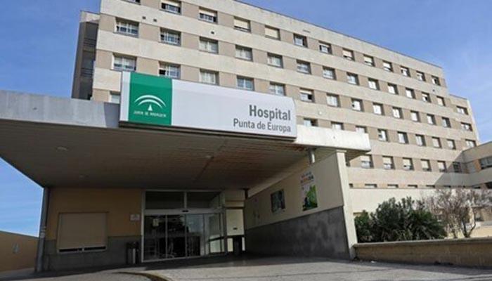 Entrada del hospital Punta de Europa de Algeciras.