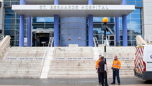 Imagen de archivo del hospital gibraltareño