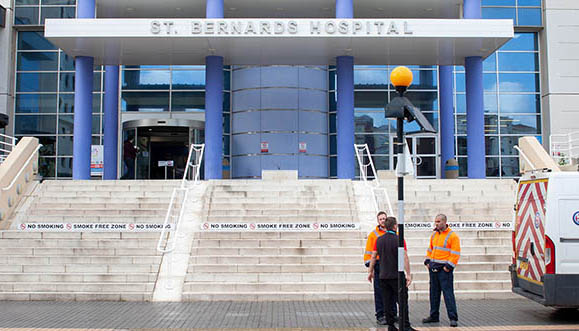 Hospital San Bernardo de Gibraltar. Sergio Rodríguez