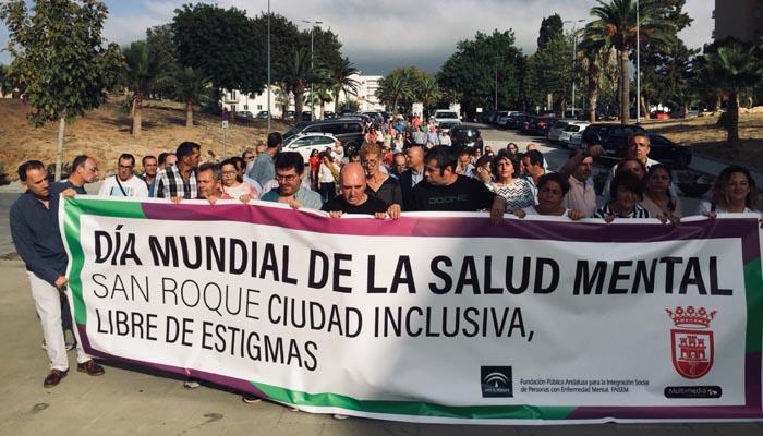 Numerosos sanroqueños participaron en la marcha por la salud mental