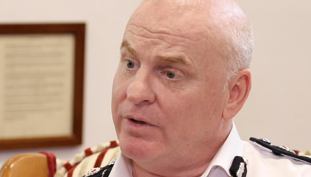 Ian McGrail, comisario de policía saliente.