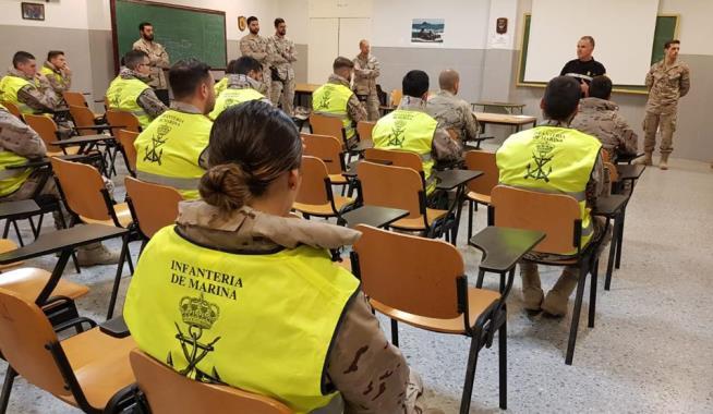 Los efectivos movilizados han recibido formación por parte de la UME. Foto: Armada/CG Flota