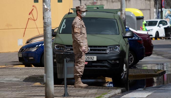 La Infantería de Marina sigue desplegándose periódicamente en la comarca. Foto Sergio Rodríguez