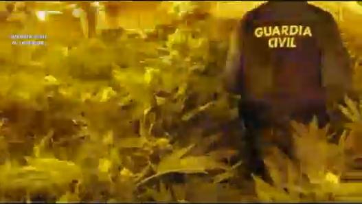 Captura del vídeo proporcionado por la Guardia Civil