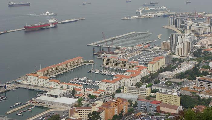 Vista aérea del Puerto de Gibraltar