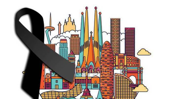 Imagen de solidaridad con Barcelona en las redes sociales
