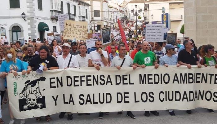 Imagen de archivo de una protesta ecologista en San Roque