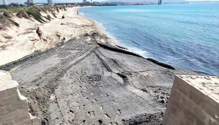 Verdemar denuncia la pérdida de arena en las costas. Foto: Verdemar