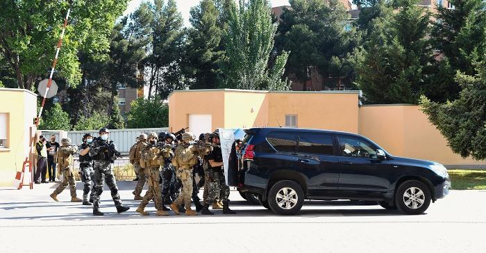 Marines y miembros del GEO, en un ejercicio durante la semana táctica conjunta. Foto Policía Nacional
