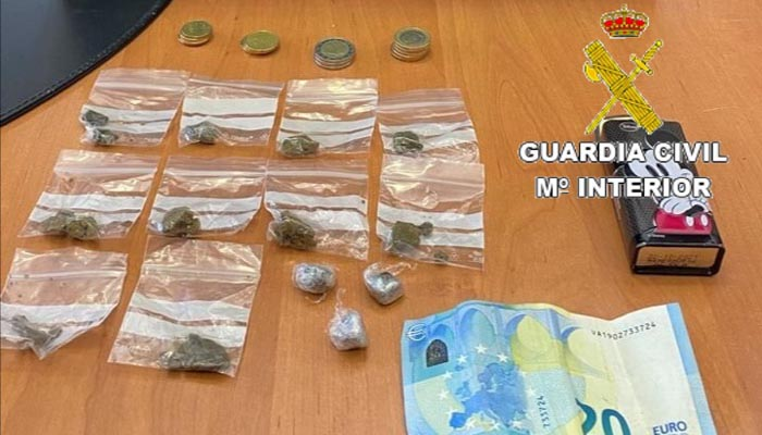 Droga y dinero intervenido al detenido en San Roque