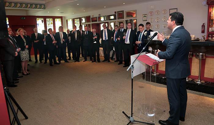 Picardo habla a los parlamentarios británicos. Foto InfoGibraltar