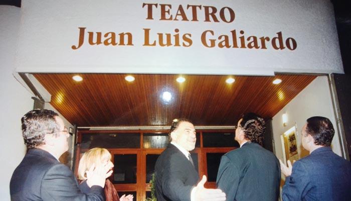 Galiardo en la inauguración del teatro que lleva su nombre