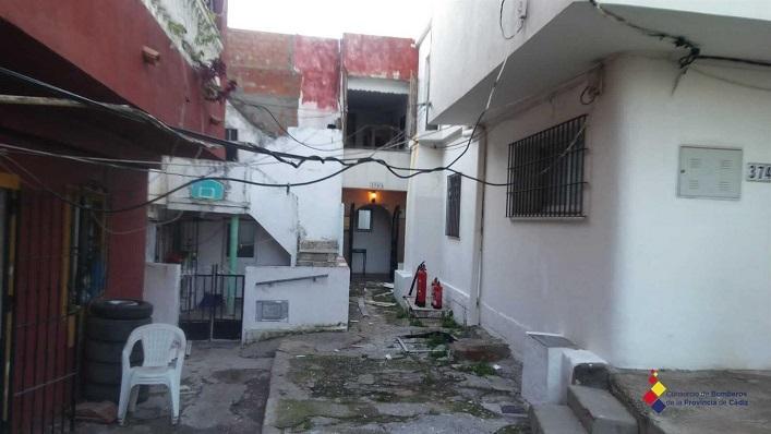 Interior de la vivienda afectada