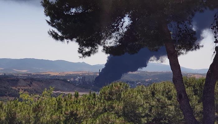 Una de las espectaculares imágenes que dejó el incendio en San Roque