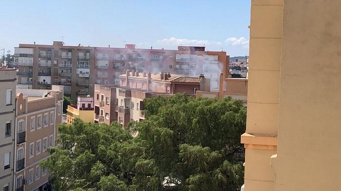 Imagen del humo en el edificio