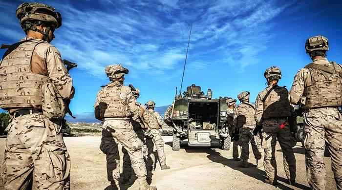 Infantes de marina en ejercicios. Foto Armada Española