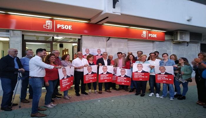 Los socialistas del PSOE de Algeciras, iniciando la campaña electoral
