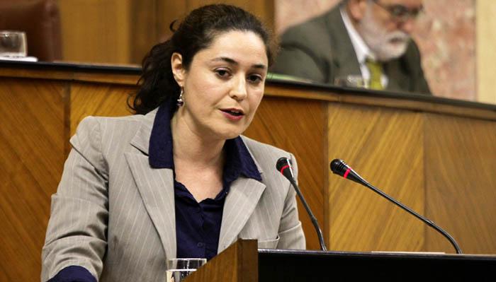 Inmaculada Nieto en el Parlamento andaluz