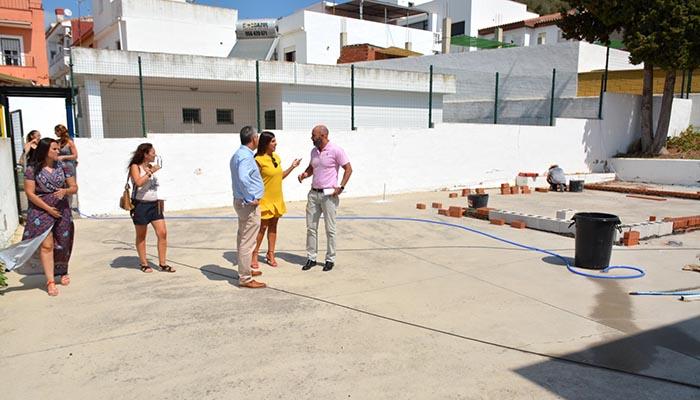 Los responsables municipales visitaron las obras en el CEIP San Bernardo