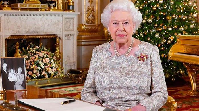 La reina en el mensaje de Navidad