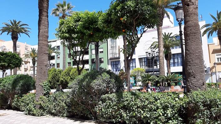 Uno de los jardines municipales de La Línea