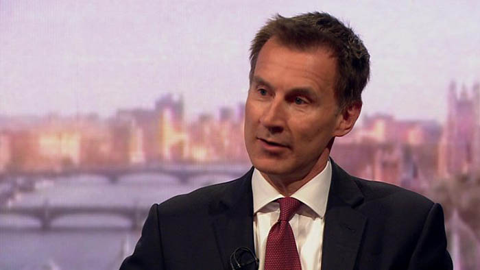 Jeremy Hunt, ministro del Foreign Office británico