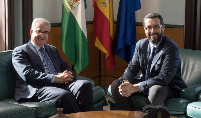 Jiménez Barrios y Juan Franco durante el encuentro mantenido en Sevilla