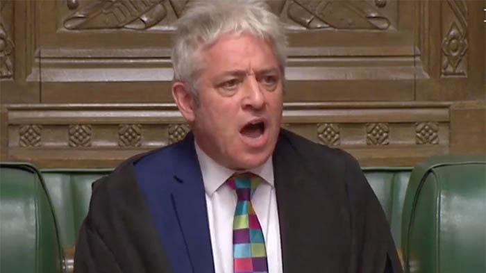 John Bercow, el speaker (presidente) del Parlamento británico