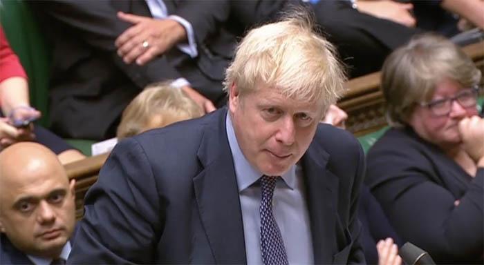 Johnson en el Parlamento británico