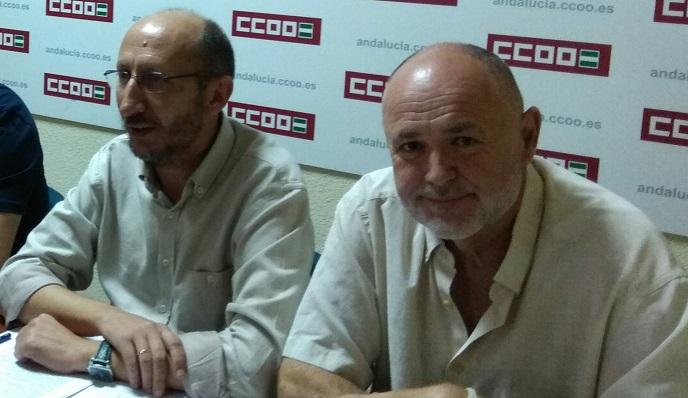 Manuel Triano y José Luis Maiztegui, de CCOO