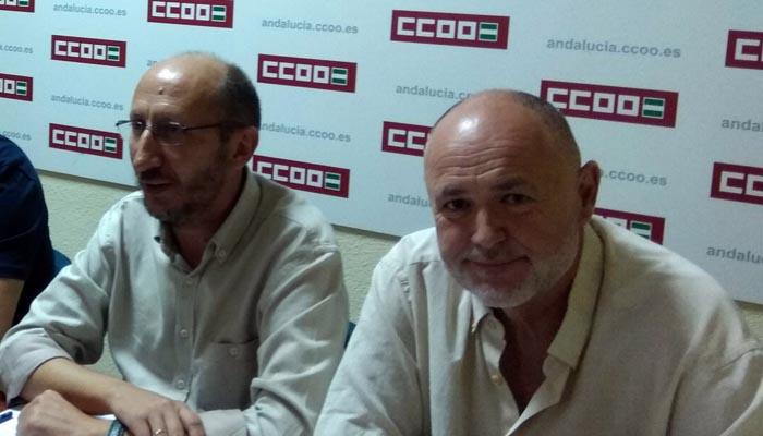 José Luis Maiztegui y Manuel Triano, en imagen de archivo. Foto CCOO