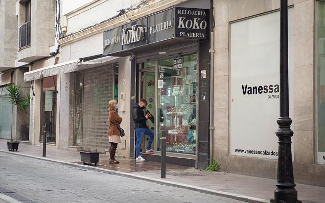 Fachada de la Joyería Koko, en pleno centro de La Línea. Foto: Sergio Rodríguez