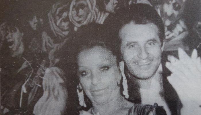 Juan Flores junto a la que fuera su esposa, también fallecida, Carmen Moreno.
