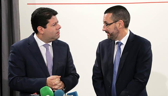 Juan Franco y Fabian Picardo en febrero de 2017