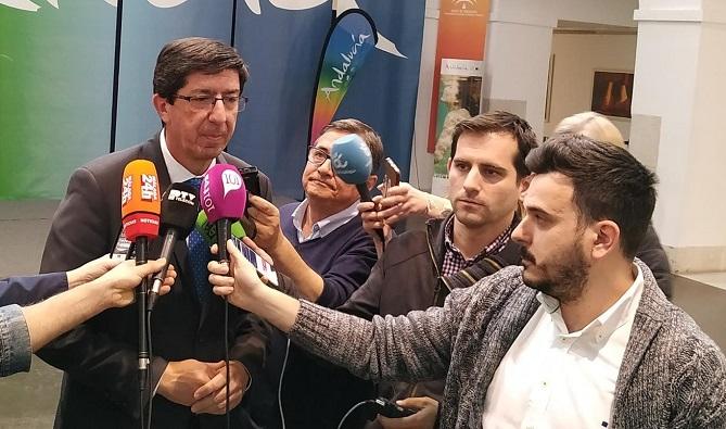 Juan Marín, este viernes en Málaga