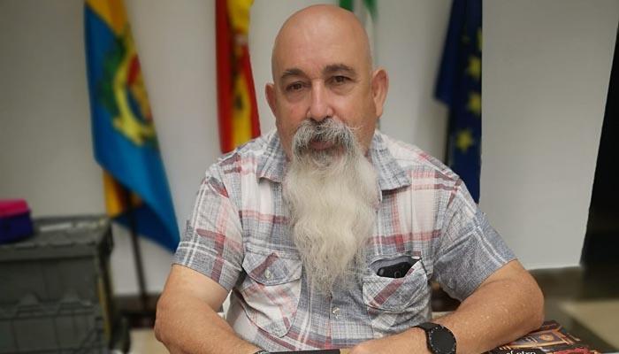 Juan Moya en la última edición de la Feria del Libro de Algeciras