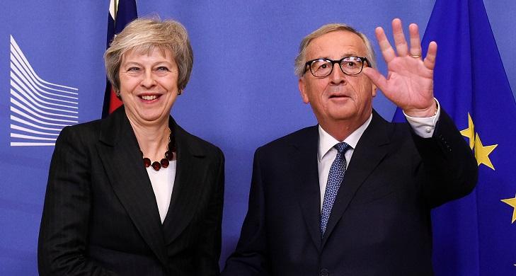 Theresa May y Jean Claude Juncker, en una reunión reciente