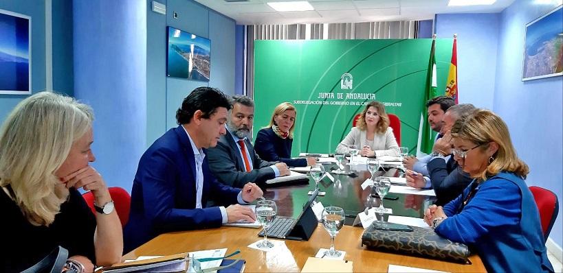 Responsables de la Junta, en un encuentro reciente celebrado en Algeciras