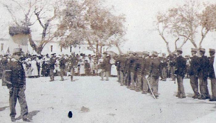 Jura de bandera en la Alameda de San Roque. Primeros años del siglo XX. Archivo Municipal de San Roque