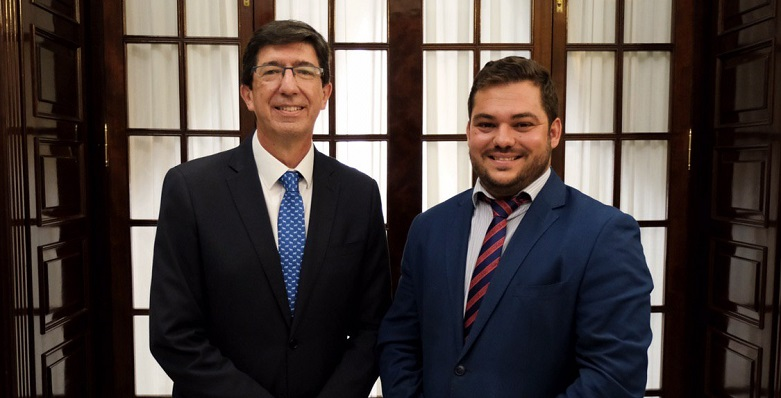 Juan Marín, vicepresidente de la Junta, y Miguel Rodríguez, delegado de Justicia