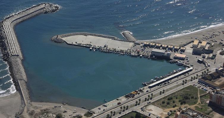 Imagen aérea del Puerto de La Atunara, en La Línea