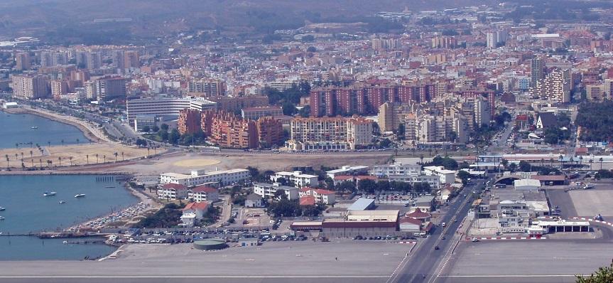 La Línea vista desde el Peñón de Gibraltar