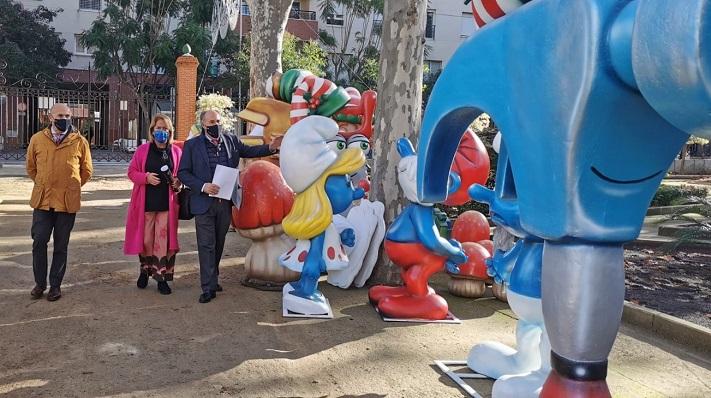 El alcalde de Algeciras, en el Parque María Cristina. Foto: algeciras.es