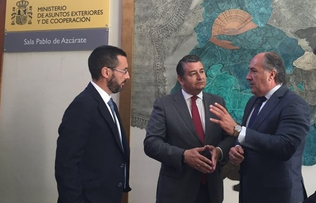 Juan Franco, Antonio Sanz y José Ignacio Landaluce en una imagen de archivo