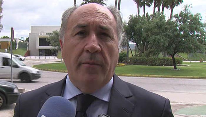 El alcalde de Algeciras en una foto de archivo atendiendo a los medios. Foto NG
