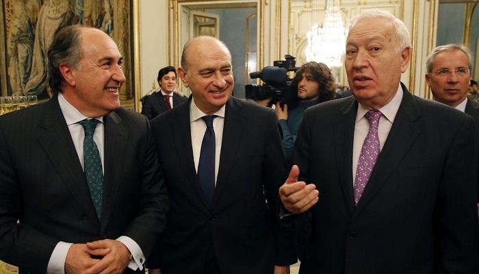 Landaluce con Fernández Díaz y García Margallo en imagen de archivo